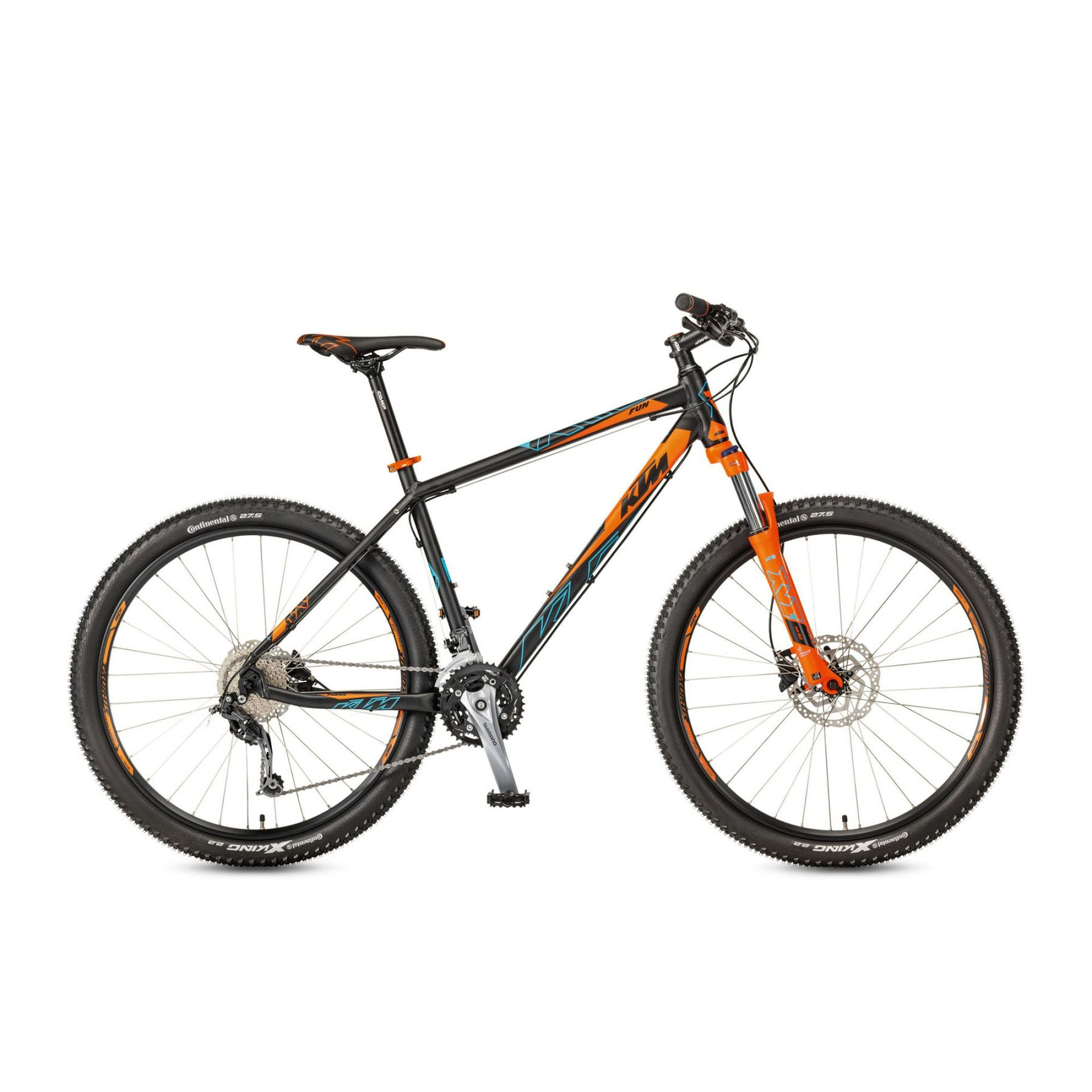 ROWER KTM ULTRA FUN 27 KOŁA 27.5 BLACK MATT - ORANGE MARSEILLEBLUE 1