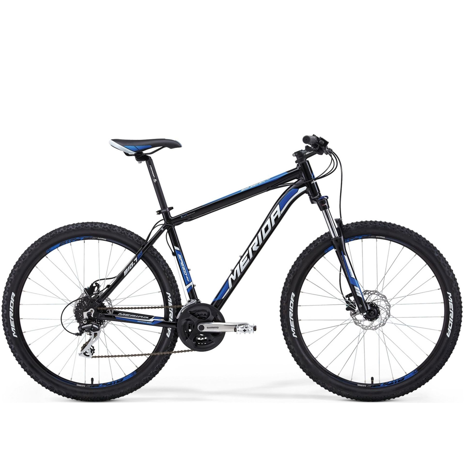 Rower Merida Big 7 20-D czarny niebieski biały