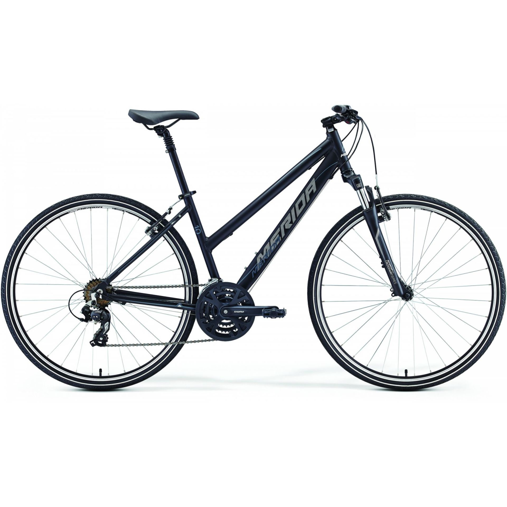 ROWER MERIDA CROSSWAY 10-V LADY MATT BLACK (GREY)