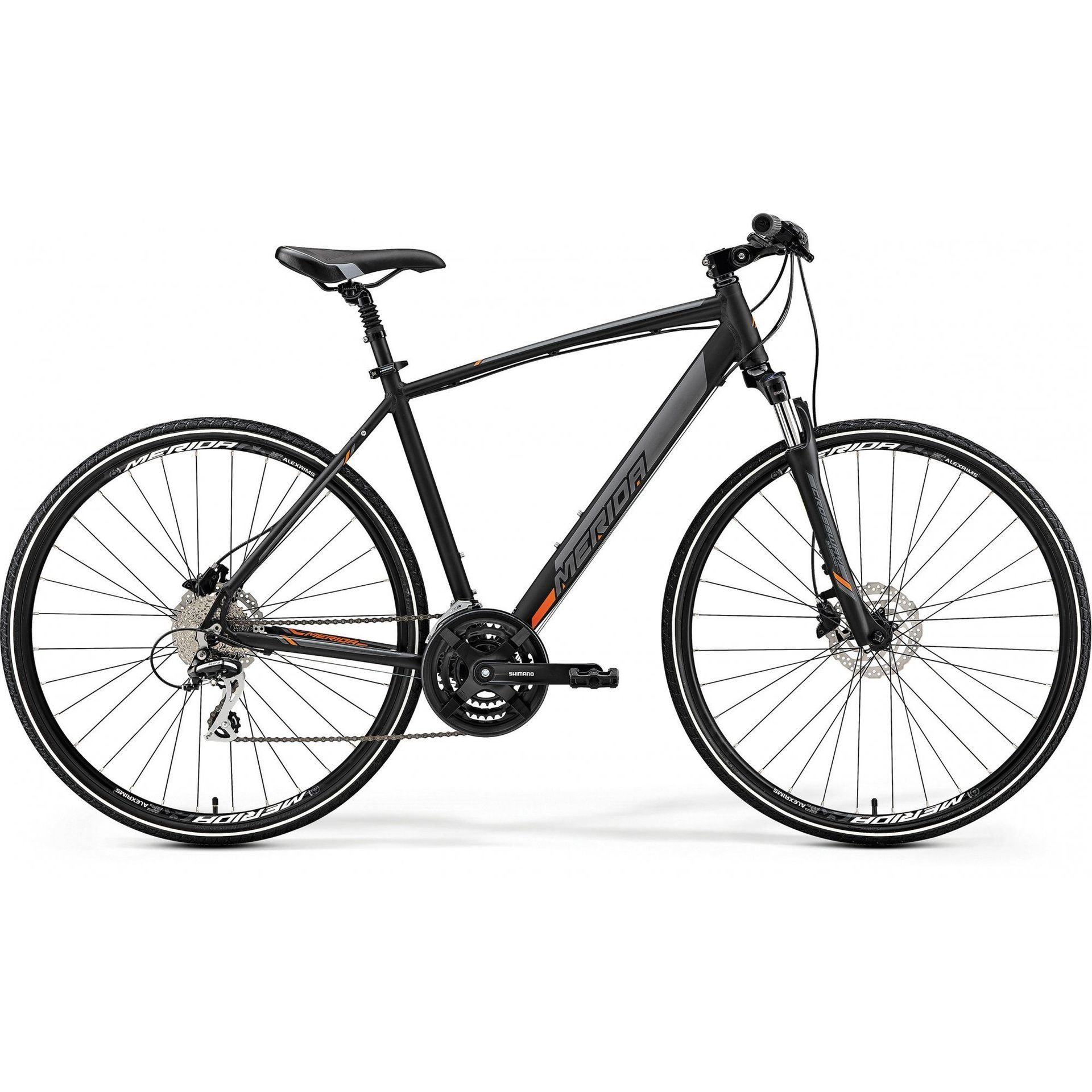 ROWER MERIDA CROSSWAY 20-D MATT BLACK|ORANGE