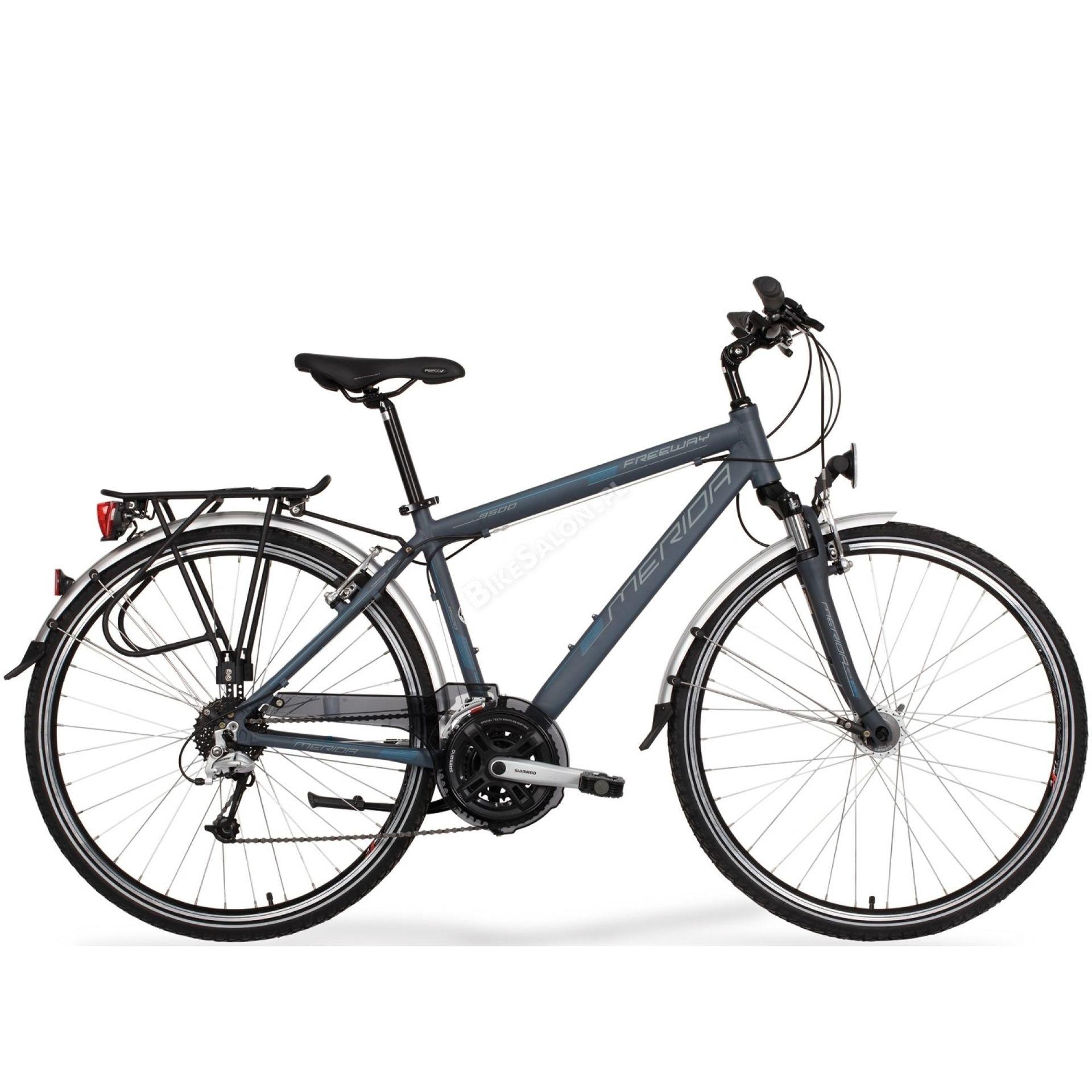 Rower Merida Freeway 9500 satynowy stalowy