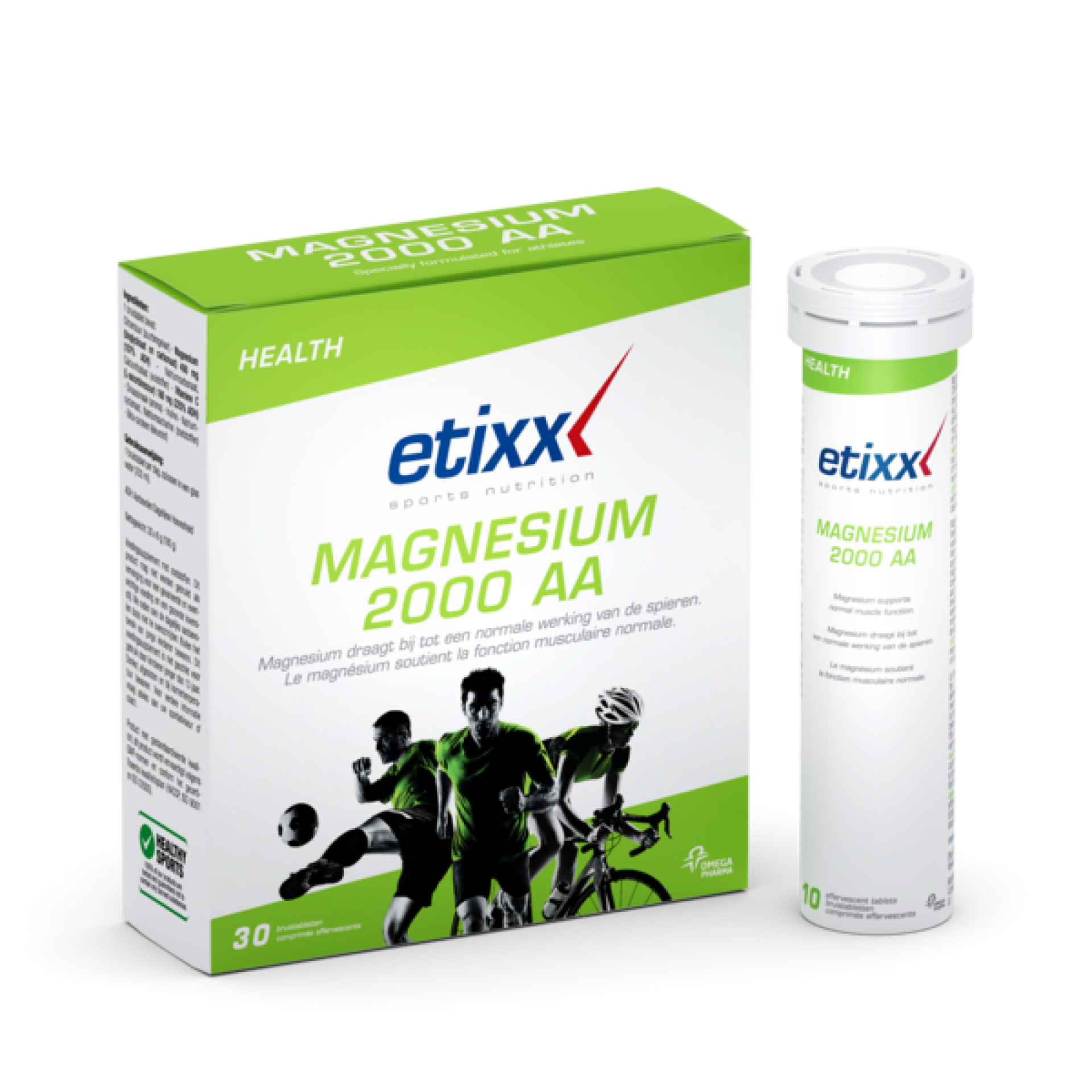 TABLETKI ETIXX MAGNESIUM 2000 AA POMARAŃCZOWY 1