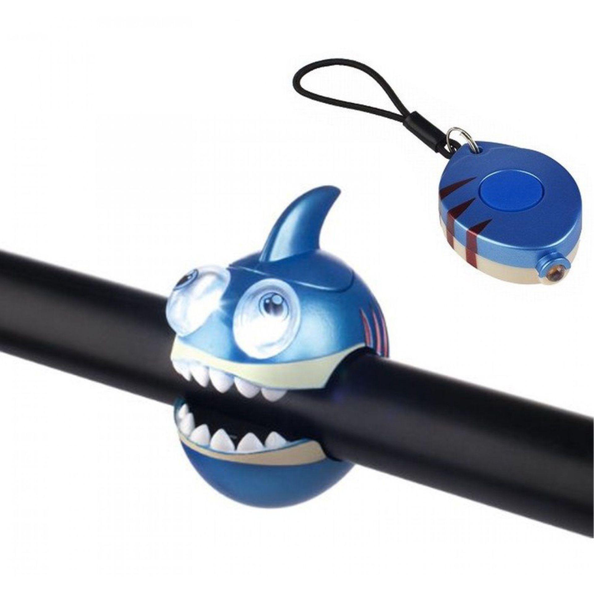ZESTAW LAMPEK ROWEROWYCH CRAZY SAFETY SHARK