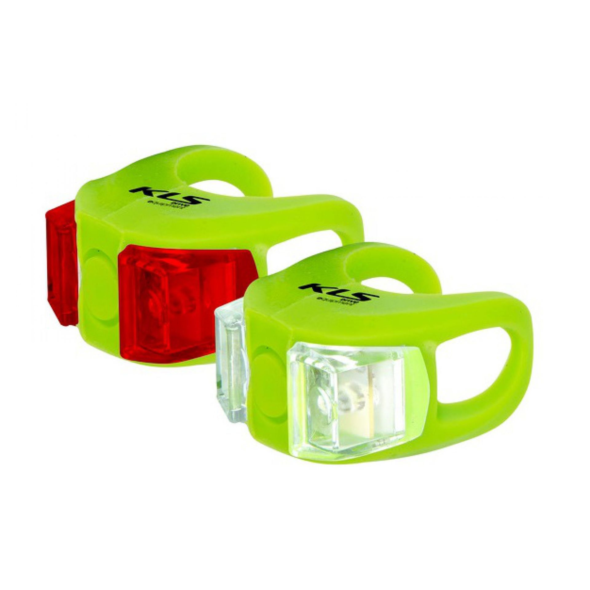 ZESTAW LAMPEK ROWEROWYCH KELLYS TWINS lime