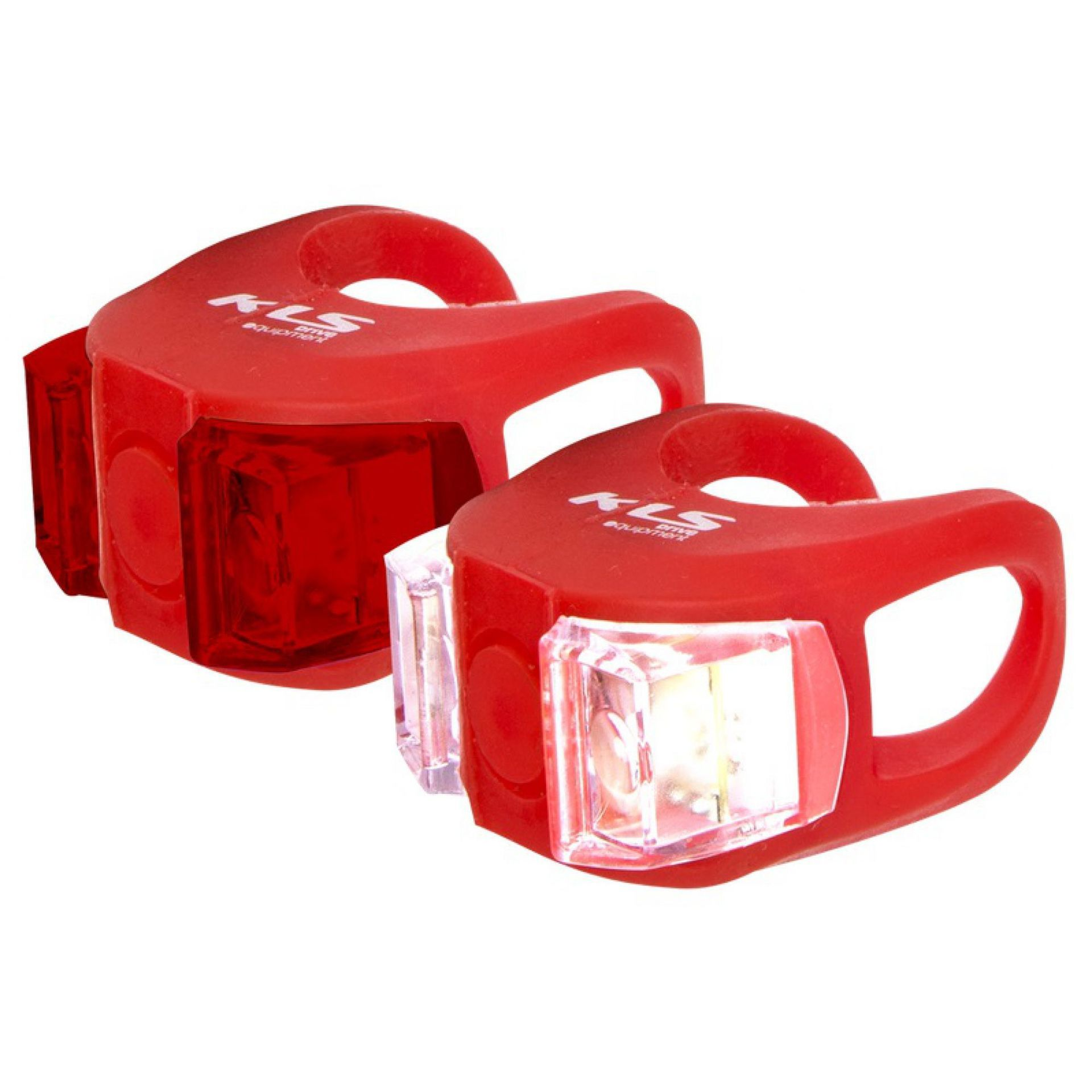 ZESTAW LAMPEK ROWEROWYCH KELLYS TWINS RED