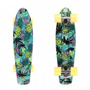 FISHBOARD FISH SKATEBOARDS PRINT PINEAPPLE ZIELONY|ŻÓŁTY