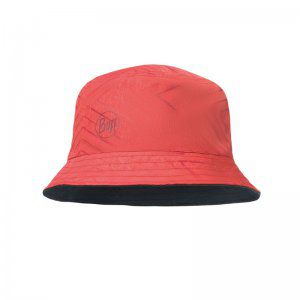 KAPELUSZ BUFF  TRAVEL BUCKET HAT COLLAGE RED  CZERWONY