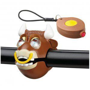 ZESTAW LAMPEK ROWEROWYCH CRAZY SAFETYBULL BRĄZOWY|ŻÓŁTY