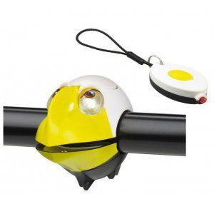 ZESTAW LAMPEK ROWEROWYCH CRAZY SAFETYEAGLE BIAŁY|ŻÓŁTY