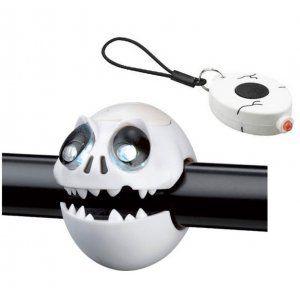 ZESTAW LAMPEK ROWEROWYCH CRAZY SAFETYSKULL BIAŁY|CZARNY
