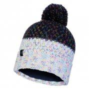 CZAPKA BUFF KNITTED AND FLEECE HAT JANNA NIGHT BLUE