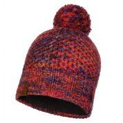 CZAPKA BUFF KNITTED AND FLEECE HAT MARGO MAROON