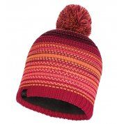 CZAPKA BUFF KNITTED AND FLEECE HAT NEPER BRIGHT PINK