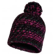 CZAPKA BUFF KNITTED AND FLEECE HAT VALYA BLACK