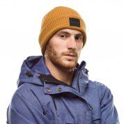 CZAPKA BUFF KNITTED HAT KIRILL CAMEL NA MODELU