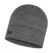 CZAPKA BUFF MIDWEIGHT MERINO WOOL HAT LIGHT GREY MELANGE