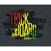 TRICKBOARD YELLOW THUNDER grafika