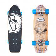 FISHBOARD FISH SKATEBOARDS CRUISER 26 NARWHAL|SILVER|BLUE 1