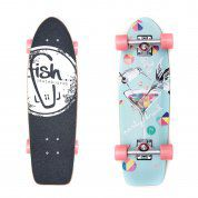 FISHBOARD FISH SKATEBOARDS CRUISER 26 PARTY|SILVER|SUMMER PINK 1