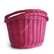 Koszyk wiklinowy Bike Boutique Dzban różowy