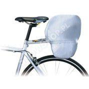 Pokrowiec na sakwy rowrowe Topeak Rain cover rozłożony srebrna