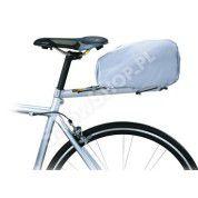 Pokrowiec na sakwy rowrowe Topeak Rain cover rozłożony srebrny