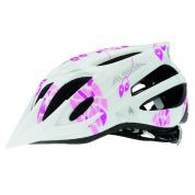 KASK ROWEROWY ALPINA FB JUNIOR 2.0 FLASH WHITE PINK WIDOK Z BOKU