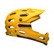 KASK ROWEROWY BELL FULL FACE SUPER 3R MIPS MATTE YELLOW COAL