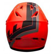 KASK ROWEROWY BELL SANCTION AGILITY MATTE ORANGE BLACK TYŁ