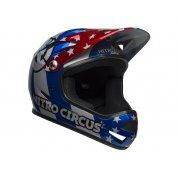 KASK ROWEROWY BELL SANCTION NITRO CIRCUS GLOSS SILVER BLUE RED PRZÓD
