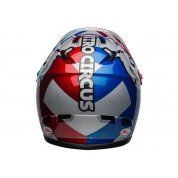 KASK ROWEROWY BELL SANCTION NITRO CIRCUS GLOSS SILVER BLUE RED TYŁ