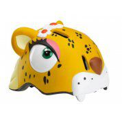 KASK ROWEROWY CRAZY SAFETY YELLOW LEOPARD