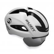 KASK ROWEROWY RUDY PROJECT BOOST 01 VISOR BLACK|WHITE HL60000