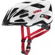 KASK ROWEROWY UVEX ACTIVE CC WHITE BLACK RED MAT