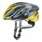 KASK ROWEROWY UVEX BOSS RACE ANTHRACITE|YELLOW