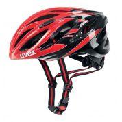 Kask rowerowy Uvex Boss Race czerwono czarny