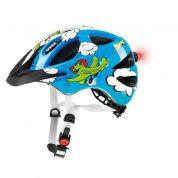 Kask rowerowy Uvex Hero niebiesko biało zielony