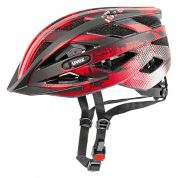 Kask rowerowy Uvex I-VO CC czarno czerwono biały
