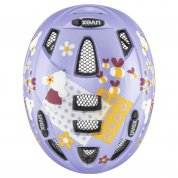 KASK ROWEROWY UVEX KID 2 CC LILAC MOUSE MAT GÓRA