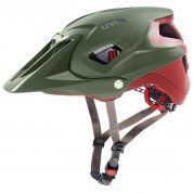 KASK ROWEROWY UVEX  QUATRO INTEGRALE GREEN RED MAT