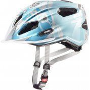 KASK ROWEROWY UVEX QUATRO JUNIOR LIGHTBLUE SILVER