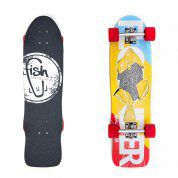 LONGBOARD FISH SKATEBOARDS CRUISER 32 FLOUNDER|SILVER|RED 1