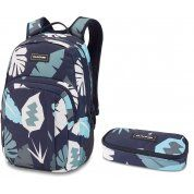 PLECAK DAKINE CAMPUS 25L + PIÓRNIK SCHOOL CASE ABSTRACT PALM