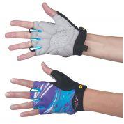 Rękawiczki rowerowe Northwave Crystal fioletowe ręce
