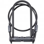 ZAPIĘCIE ROWEROWE BONTRAGER ELITE U-LOCK WITH CABLE BLACK