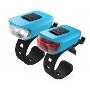 ZESTAW LAMPEK ROWEROWYCH KELLYS VEGA USB SKY BLUE