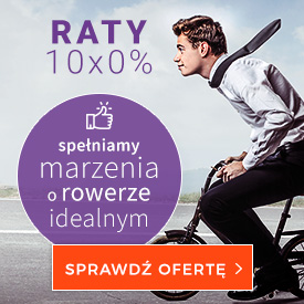 Raty na rower 10 x 0% w BikeSalon.pl - decyzja w 15 minut (Rowery miejskie)