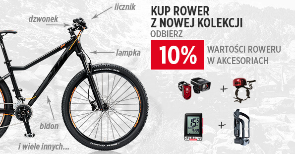 Zgarnij 10% rabatu na rower w akcesoriach!