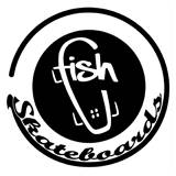 Bikesalon - FISHBOARD FISH SKATEBOARDS #PRINT CATS# NIEBIESKI|RÓŻOWY - fishlogo